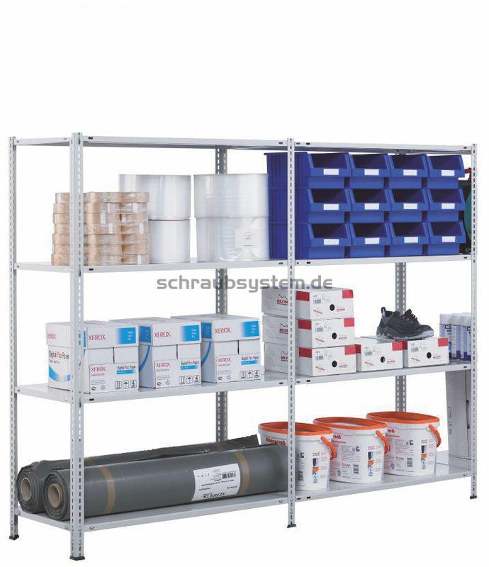 Schulte schraubsystem lagerregal 1800 x 2000 x 400 mm for Schulte vario schraubsystem